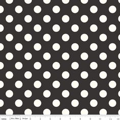 Le Creme Medium Black Dots C630-110  ivory dots on by hootcouture