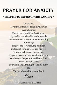 8 Prayers For Anxiety To Calm Your Soul - The Graceful Chapter