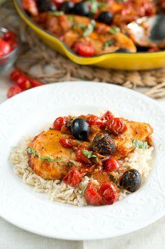 One Skillet Chicken Puttanesca - Delicious Meets Healthy