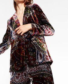 Image 5 of VELVET BLAZER from Zara