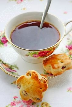 "Tea in Royal Albert's ""Old Country Roses"" Teacup"