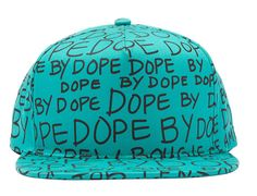 Teal Dope by Dope Snapback Cap by DOPE