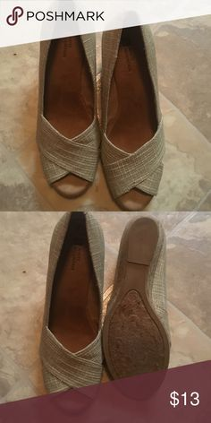 "NEW..Womens White Mountain wedges new no box New wedges tan with 9 1/2 size tag inside no box.  Heel height approx 3 1/2"" White Mountain Shoes Wedges"