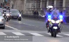 Cortège Président Hollande // Motorcade French President Hollande