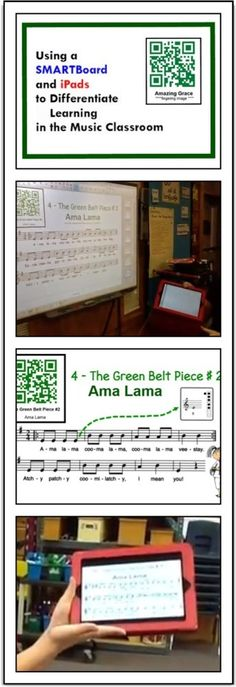 Wish i had a smart board! Using a SMARTBoard and iPads to Differentiate learning in the Music Classroom. Recorder Karate in a iPad school. Smart Board Lessons, First Year Teaching, Music Education, Physical Education, Health Education, Elementary Music, Elementary Schools, Music School, Music Classroom