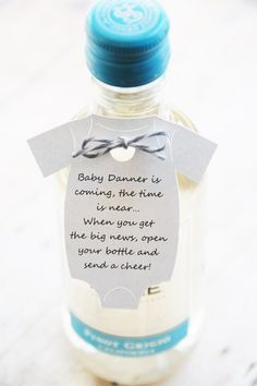 Baby is coming the time is near when you get the big news open your bottle and send a cheer ~ Mini Wine Bottle Thank You ~ Baby Shower Thank You Gift Tags ~ Onesie Gift Tags ~ Personalized ~ KendollMade