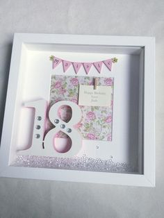 Birthday Box Frame 18th 21st 30th 40th 50th 60th by Inspirewordart