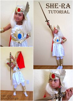 How cute is this She-Ra Costume? I made this costume for Laura in about 1990!....might still have it kicking around!