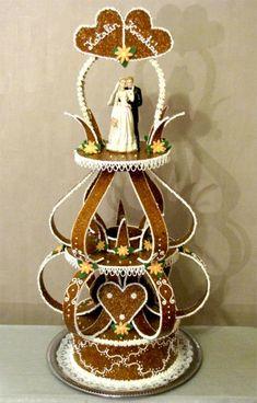 Esküvői torta / Wedding cake #candy #creation #wedding Money Dance, Happy Year, Wedding Candy, Cookie Designs, Just Married, How To Make Cake, Newlyweds, Decorative Bells, Reception