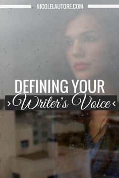 Defining Your Writer's Voice For Beginners via NicoleLautore #amwriting #writers…