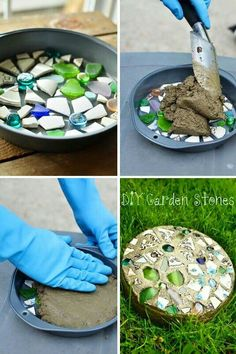 33 Best Garden Stepping Stone Ideas For A Beautiful Walkway Easy Diy Garden Stones Project Stepping Stones Decoration Ideas Garden Crafts, Garden Projects, Garden Art, Garden Ideas, Garden Paths, Patio Ideas, Easy Diy Gifts, Homemade Gifts, Garden Stepping Stones