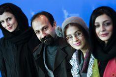 Leila Hatami with Asghar Farhadi, Sareh Bayat, Sarina Farhadi,
