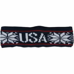 USA Ladies Knit Headband - Navy Blue