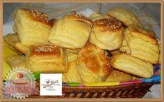 Réteges túrós pogácsa Croissants, Pretzel Bites, Scones, French Toast, Pizza, Breakfast, Recipes, Food, Breads
