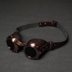 Steampunk goggles stylized old copper by ElBorodero.deviantart.com on @DeviantArt