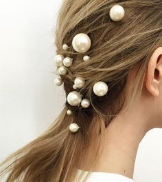 A pinned-back low ponytail is made insanely elegant with pearls. A pinned-back low ponytail is made insanely elegant with pearls.,Awesome Hair easy summer hairstyles Related posts: Hysterical Memes That. Easy Summer Hairstyles, Cool Hairstyles, Hairstyle Ideas, Hair Ideas, Updo Hairstyle, Latest Hairstyles, Layered Hairstyles, Braid Hairstyles, Natural Hairstyles