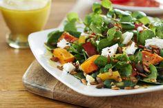 Roasted Squash and Feta Salad Roasted Squash, Butternut Squash, Feta Salat, Squash Salad, Caprese Salad, Food Photography, Salads, Eat, Ethnic Recipes