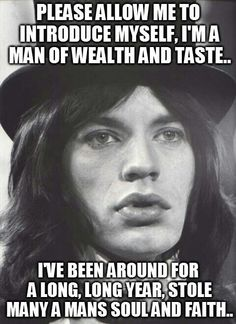 pleased to meet you, hope you guess my name | The Rolling Stones - Sympathy For…