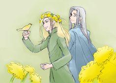 Thranduil & Celeborn by  むろ