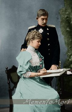Prince Ferdinand of Hohenzollern-Sigmaringen and Princess Marie of Edinburgh later King and Queen of Romania.