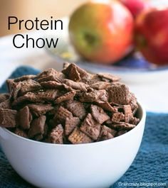 Grain Crazy: Protein Chow (healthy version of puppy chow without sacrificing the flavor.) Peanut Butter and Chocolate with protein too. Great snack.