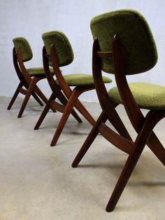 2 Retro vintage eetkamerstoelen, jaren 50 60 stoelen | dingen van ...