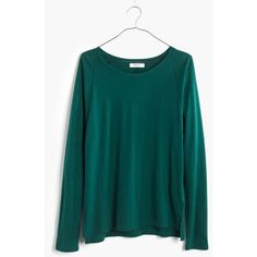 MADEWELL Songbook Dolman Tee ($40) ❤ liked on Polyvore featuring tops, t-shirts, bowling green, slouchy t shirt, slouch tee, dolman sleeve tops, green top and madewell