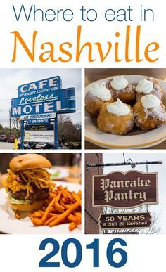 Where to Eat in Nashville Tennessee. Brunch, lunch and dinner.what are the best places in Nashville? Pancake Pantry and Loveless Cafe are popular picks, but find out our don't miss restaurants in Nashville. Nashville Vacation, Tennessee Vacation, Nashville Tennessee, East Tennessee, Visit Nashville, Nashville Brunch, Nashville Food, Tennessee Waltz, On The Road Again