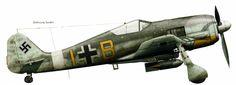 Focke Wulf Fw 190 A5 11.SKG10 Yellow B+I loaded with a 500 kg bomb Mediterranean 1943