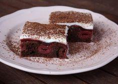 Čokoládovo-višňový koláč Cheesecake Brownies, Desserts, Food, Boleros, Tailgate Desserts, Deserts, Essen, Postres, Meals
