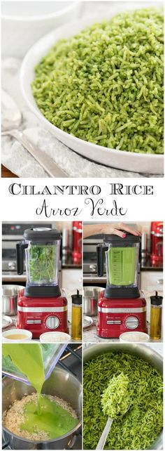 This beautiful-hued Cilantro Rice is a delicious alternative to plain rice and will receive wow reviews every time you serve it!