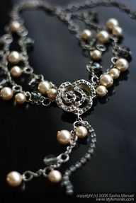 Vintage #Chanel jewelry  - Camellia. a little different but still pretty