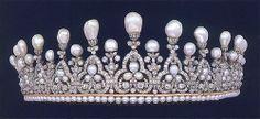 Ancona Tiara, Italy (ca. 1817; pearls, diamonds, gold).