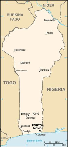 The countries that surround Benin include Nigeria, Togo, Burkina Faso, and Niger. It lies between the equator and the Tropic of Cancer. Africa Map, West Africa, South Africa, Country Information, Geography For Kids, Thinking Day, African History, Congo, Places To See