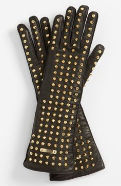 Burberry Studded Leather Gloves available at #Nordstrom