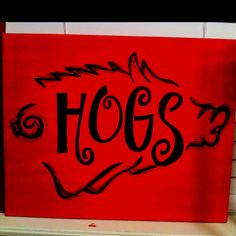 Razorback canvases for sale!