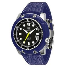 Glam Rock Unisex GR11500 Miami Collection Stainless Steel and Dark Blue Rubber Watch Glam Rock. $278.10. Water-resistant to 330 feet (100 M). Date function. Black dial with luminous hands and hour markers; Black unidirectional bezel; Yellow second hand; Black screw-down crown. Precise, high-quality Swiss-Quartz movement. Durable mineral crystal; Brushed stainless steel and dark blue rubber case; Dark blue rubber strap