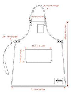 Amazon.com: Vantoo Adjustable Denim Jean Apron with Pockets, Indigo Blue: Home & Kitchen