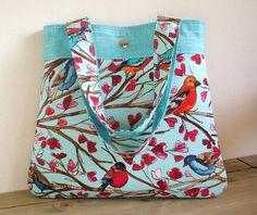 Handmade Handbag in Laura Gunn Fabrics Wing Song by SusieDDesigns -