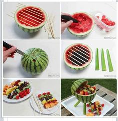 How to make the watermelon grill