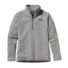 This knitted, cross-dye pullover sweater combines the aesthetic of wool with the easy care of polyester fleece dyed with a low-impact process that significantly reduces the use of dyestuffs, energy an
