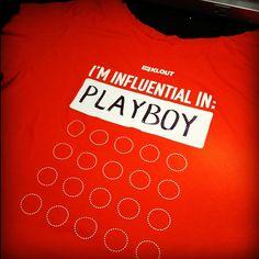 I'm influential in @Playboy. #kxkw #sxsw #klout - @katelin_cruse