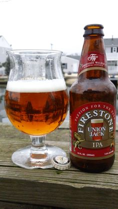 A personal favorite. Firestone Walker - Union Jack IPA is a super well balanced west coast style IPA that goes great with an array of food. This utterly delicious beer with a floral bouquet of citrus and pine matches perfectly with its bold, malty/sweet taste and hopped-up dry finish. Definitely a beer to write home about.