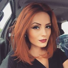Hair Color And Cut, Cool Hair Color, Short Hair Colors, Trendy Hair Colors, Hair Trends, Makeup Trends, Beauty Trends, Makeup Ideas, Ginger Hair