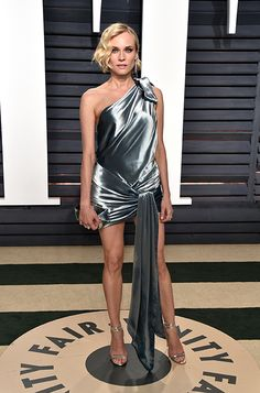 Diane Kruger wearing TIZZY  to the Vanity Fair Oscar Party in Los Angeles