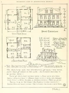VICTORIAN ARCHITECTURAL DRAWING An Illustrated Step By Step Method for Student Draughtsmen 61 pages