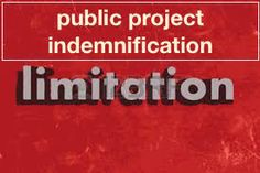 Contractual limitation on indemnity on public construction projects
