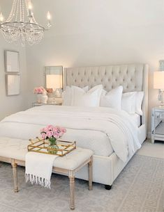 Home Decor Bedroom Elegant Master Bedroom Refresh with The Company Store The Decor Diet.Home Decor Bedroom Elegant Master Bedroom Refresh with The Company Store The Decor Diet Room Ideas Bedroom, Home Decor Bedroom, White Bedroom Decor, Bedroom Inspo, Couple Bedroom Decor, Bed Rooms, Feminine Bedroom, Master Bedroom Furniture Ideas, Bedroom Decor Glam