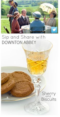 Sherry and Biscuits? Carson approves with a nod -- and an almost grin!