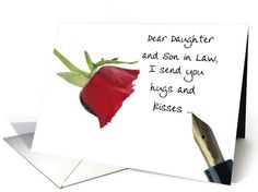 Valentine's message to Daughter & Son in law, card